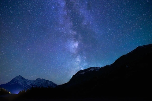 David Thompson Resort, milky way, Alberta, nightscape, landscape, mountains, stars, Dan Jurak