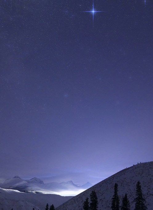 Luscar Mine, Teck, Teck Resources, winter, stars, elk, Alberta, Cadomin, Luscar