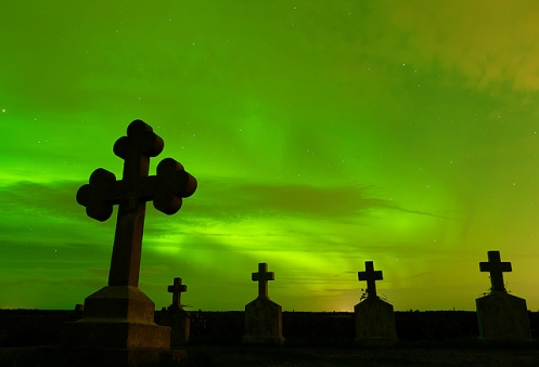 Cemetery and Aurora