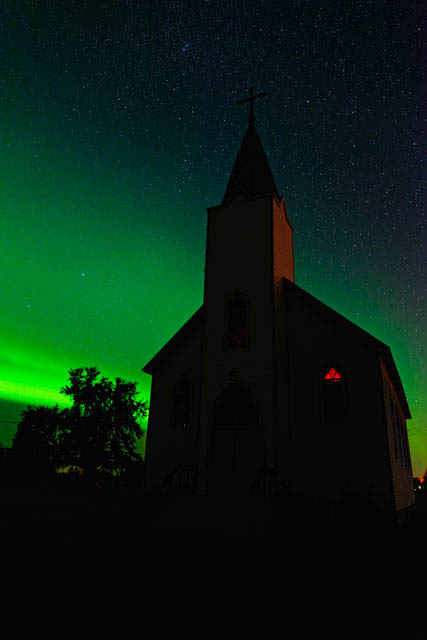Church and Aurora