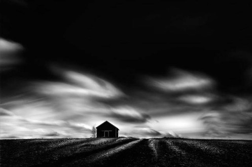 Dan Jurak, long exposure, black and white, fine art, fineart, prairie, minimalist, clouds, sky, style, vision, Alberta, landscape,