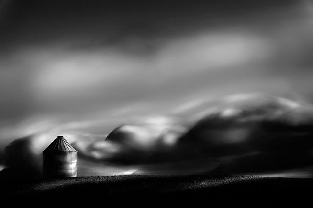 Long exposure black and white fineart fine art landscape alberta