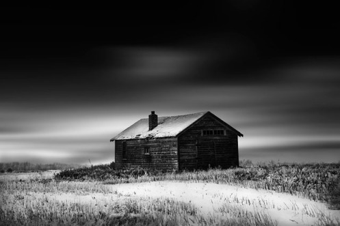 Dan Jurak, black and white, fine art, fineart, long exposure, prairie, winter