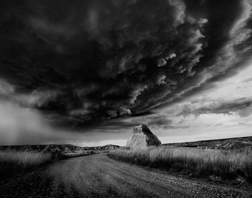 Dan Jurak, black and white, landscape, fineart, fine art, prairie, Dan Jurak, landscape, storm, badlands, Travel Alberta,