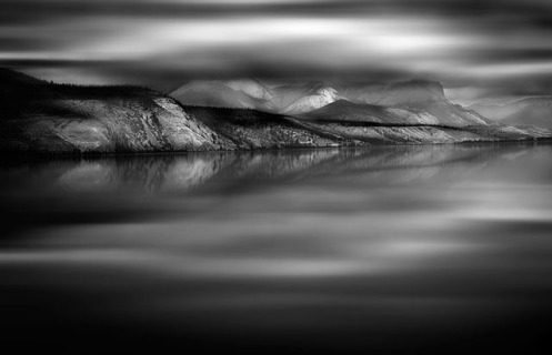 long exposure, minimalist, black and white, Jasper, rockies, mountains, landscape, Dan jurak, Black and white,