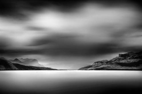 minimalist, long exposure, fineart, fine art, black and white, mountains, rockies, Alberta, DAn jurak, landscape,