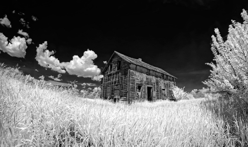 infrared, landscape, dan jurak, alberta, fineart, black and white, fineart, black & white, prairie, summer,