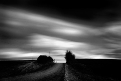 black and white, long exposure, Alberta, landscape, Dan Jurak, clouds, minimalist,