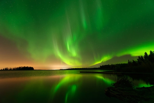 Astotin Lake Aurora