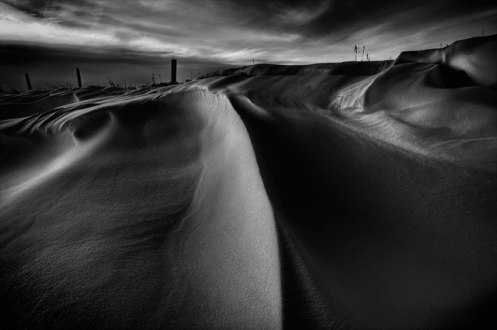 snow drifts, low key, winter, drifts, cold, Alberta, rural, farm, prairie, Dan Jurak, landscape, monochrome, snow drift, cold, black and white,