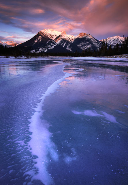 ice, mountains, ice bubbles, canada, alberta, not abraham lake, not spray lakes, rockies, dan Jurak, alberta, landscpae