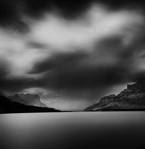 Jasper national park, jasper, rockies, monochrome, LE, long exposure, longexposure, black and white, black&white, moody, Alberta, mountains, rockys,