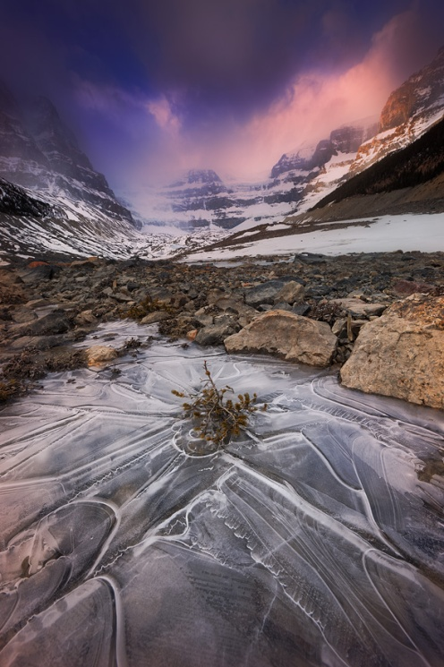 somewhere in the rockies, Banff, Jasper, Nordegg, abraham lake, ice bubbles, Ice, landscape, mountains, glacier, Dan Jurak, Alberta
