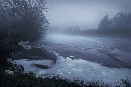 sturgeon river, foggy, summer, long exposure, Alberta, moody, Dan Jurak, RAW images,