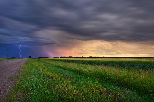 landscape, storm, lightning, alberta, prairie, rural, dan Jurak, travel alberta, farm, horizontal,