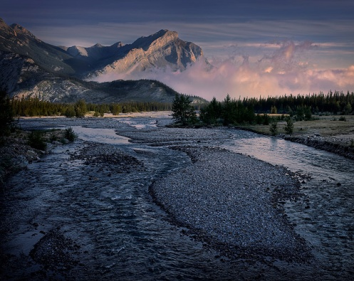 jasper, landscape, river, summer, rockies, alberta, travelalberta, dan Jurak, mountains, dawn,