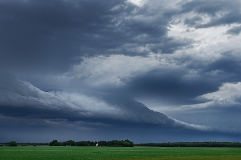 storm chaser, supercell, tornado, bad weather, storms, clouds, Alberta, prairie, horizontal, landscape, Dan jurak,