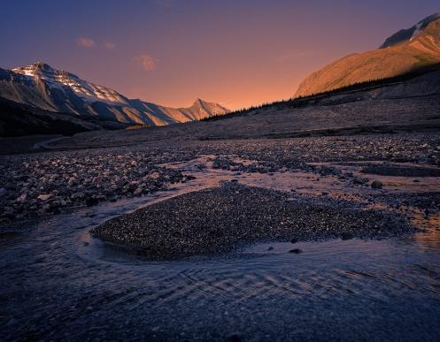 focus stacking, landscape, jasper, mountains, sunset, ice fields, columbia, mount wilson, landscape, horizontal, tourism jasper, Dan Jurak,