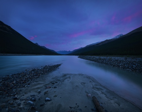 Jasper, mountains, rockies, Dan jurak, landscape, river, dawn, summer, Alberta, travel alberta, tourism jasper, water, Sunwapta,