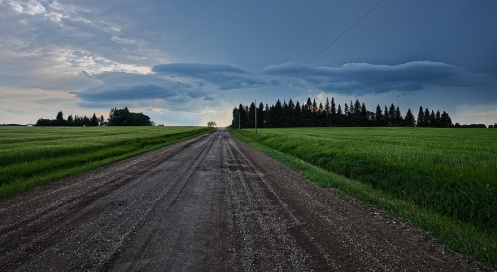 storm, landscape, road, farm, rural, alberta, horizontal, prairie, summer, weather, Dan Jurak,