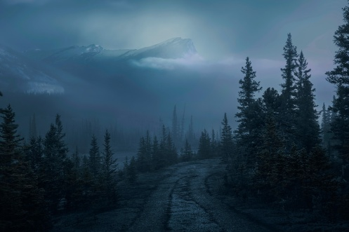 landscape, processing, shooting technique, Alberta, rockies, banff, autumn, Dan jurak, foggy, morning,