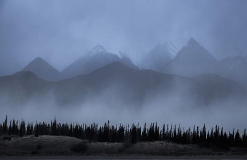 sand storm, jasper, landscape, winter, clouds, dan jurak, alberta, silhouette,